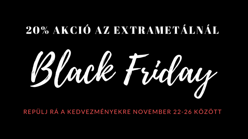 20% Black Friday Akció